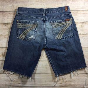 7FAMK Dojo Cut Off Jean Shorts